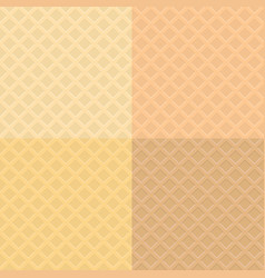 Waffle pattern background vector