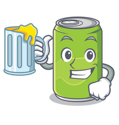 With juice soft drink character cartoon vector