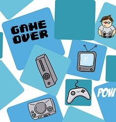 video games vector image