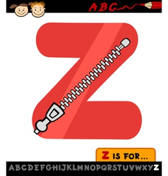 letter z with zipper cartoon vector image
