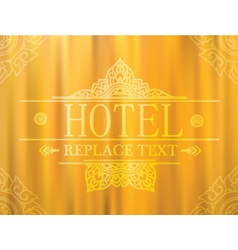 Logo template flourishes graphic thai design Hotel vector image