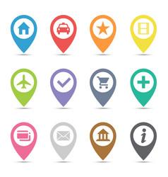 map pin icon set vector image