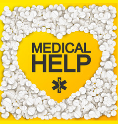 medical help background vector image