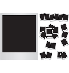 Photo frames on white background vector image