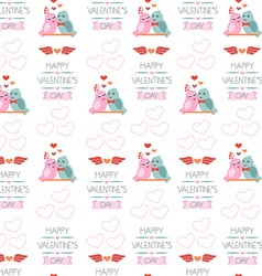 Seamless background for Valentines day Wrapping vector image vector image