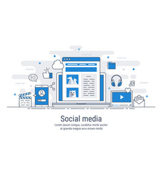 social media vector image