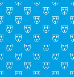 crest pattern seamless blue vector image