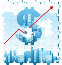 finance background vector image vector image