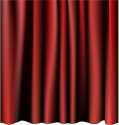 Red curtain for the stage Editable meshes vector image