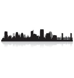 Sacramento USA city skyline silhouette vector image vector image