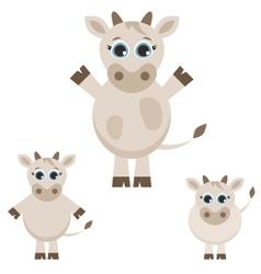 Set of cute cows vector image