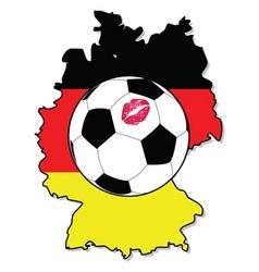 women soccer in Germany vector image vector image