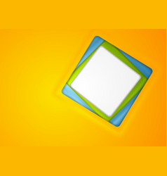 abstract corporate background with blank square vector image vector image