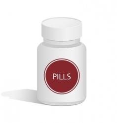 medical jar for pills vector image vector image