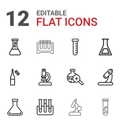 12 lab icons vector