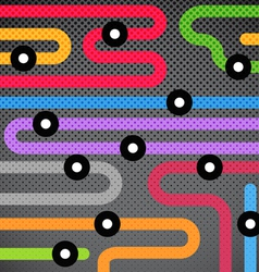 Abstract background of color metro lines vector