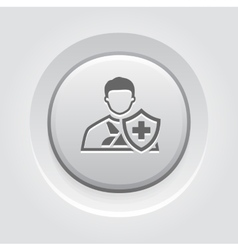 Accident Insurance Icon Grey Button Design vector