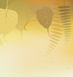 Autumn horizontal banner yellow vector