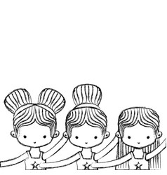 ballet dancers design vector image