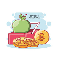 Bitcoin accepted design vector