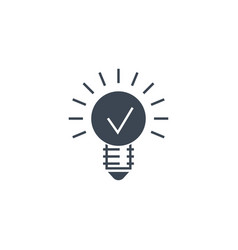 Bulb flat related glyph icon vector
