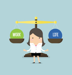 businesswoman balance work and life vector image