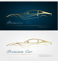 car company dark and white background vector image