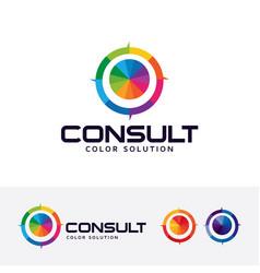 color consult logo design vector image