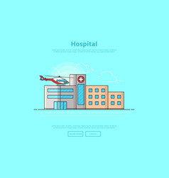 concept medicine center vector image
