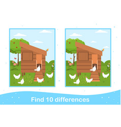 easter worksheet with find differences game vector image