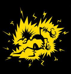 Electric shock figure cartoon vector