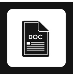 File DOC icon simple style vector