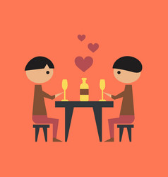 Flat icon on stylish background gay romantic vector