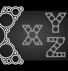 Font design made circles in letters vector