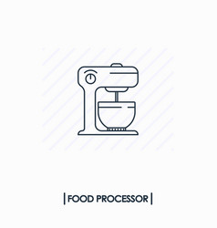 Food processor outline icon isolated vector