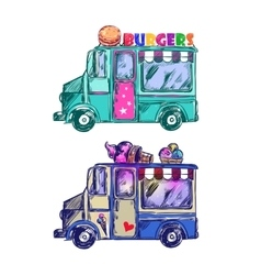 Food Truck Sketch vector image