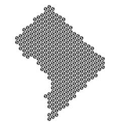 football ball washington dc map mosaic vector image