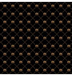golden damask seamless pattern vector image vector image