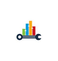 Graph fix and repair logo icon design vector