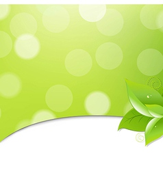 Green Ecology Background With Leaves vector