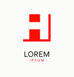 H letter logo icon vector