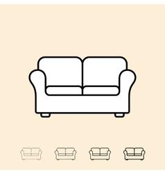 Icon of sofa vector