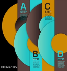 Infographic Circles ABCD vector