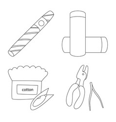 Isolated object nicotine and filter sign set vector