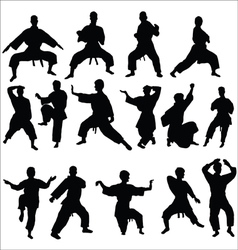 Karate kata pose vector