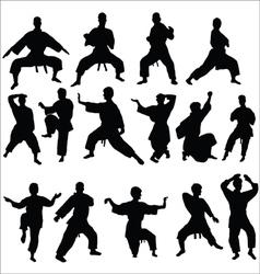 Karate kata pose vector image