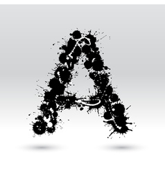 Letter A formed by inkblots vector image