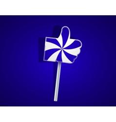 Lollipop like on blue background Eps10 vector