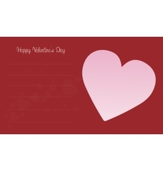 Love for valentine card collection vector image