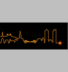 Lyon light streak skyline vector